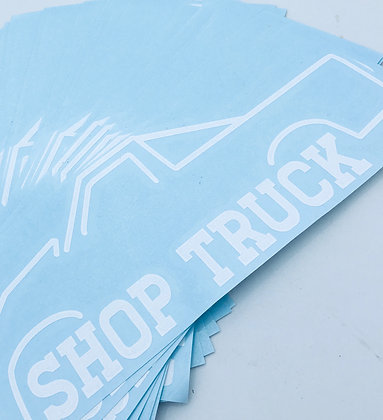 Shop Truck Decal