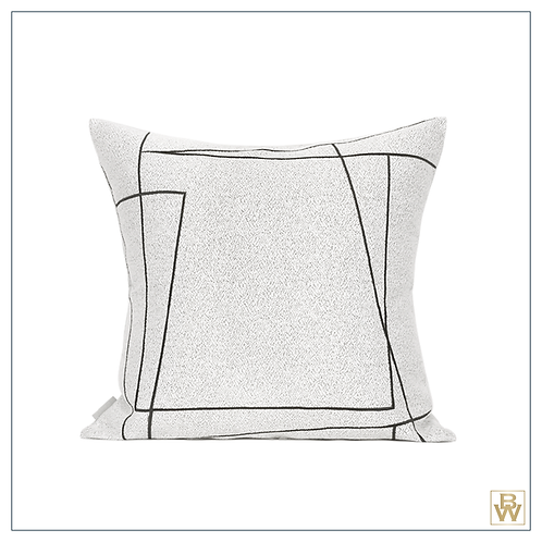Sotti & Co. 'Elroy' Abstract Lines Cushion 50x50cm