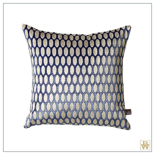 'Helios' Cut Velvet Cushion 43x43cm