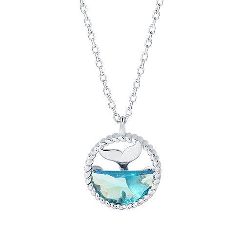 Collier Meerjungfrau Silber rhodiniert