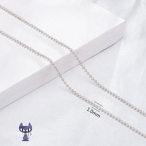 Perlenkette Silber rhodiniert