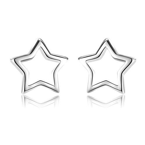Ohrstecker Sterne Silber rhodiniert