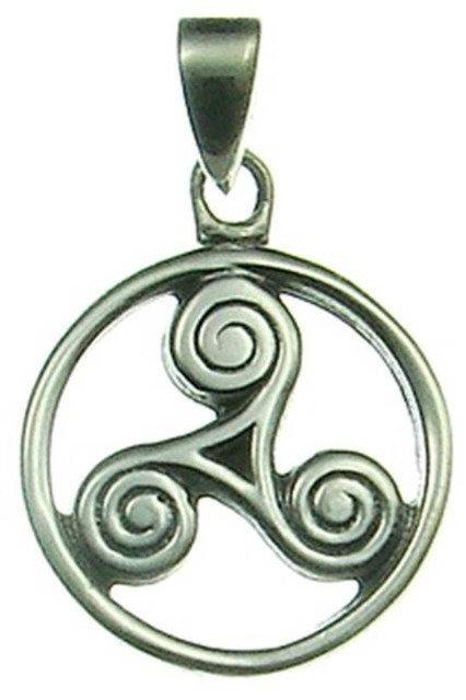 Silberanhänger Triskele im Kreis