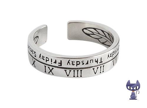 Ring Römische Zahlen Silber rhodiniert