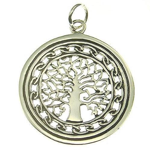Silberanhänger Lebensbaum groß