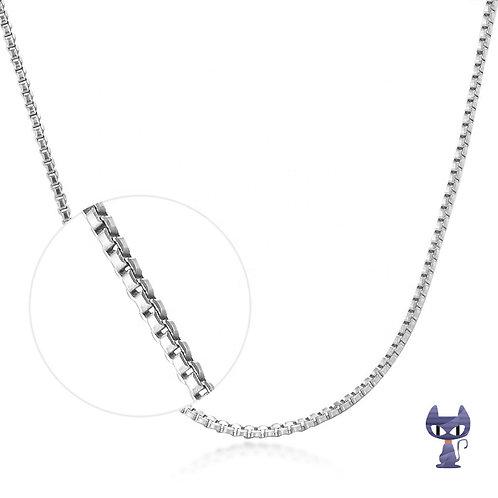 Venezianierkette Silber rhodiniert