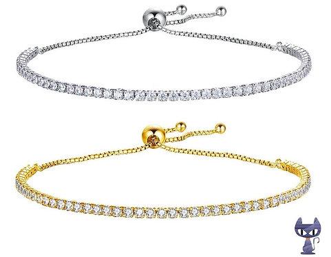 Armband mit Zirkonias Silber rhodiniert oder vergoldet