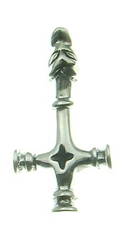 Kopie von Silberanhänger Isländisches Wolfskreuz Groß