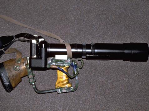 Fusil photo et Telyt 400 mm Leica