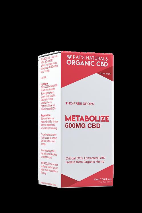 Kat's Natural's Metabolize 500mg CBD