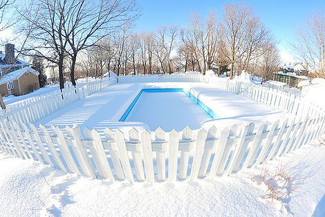 Winterized In-ground Swimming Pool