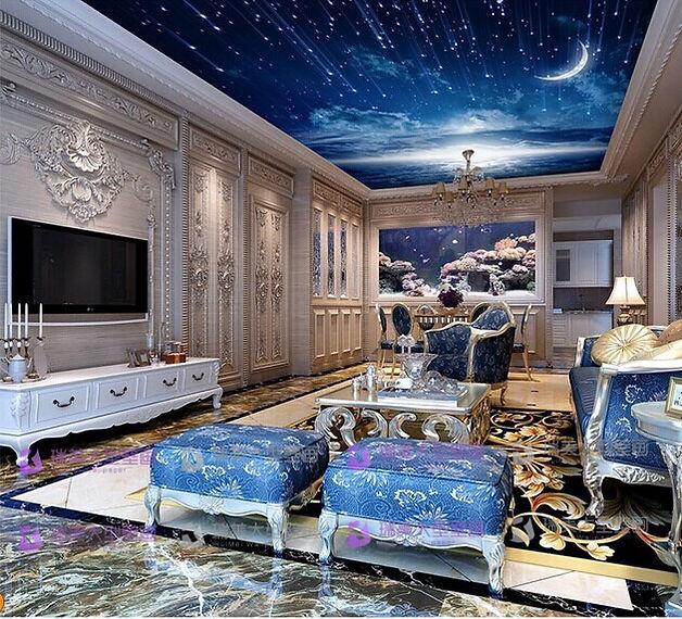 Starry sky, Fiber Optic Light, Stars on the ceiling, Stretch Ceilings in Dubai