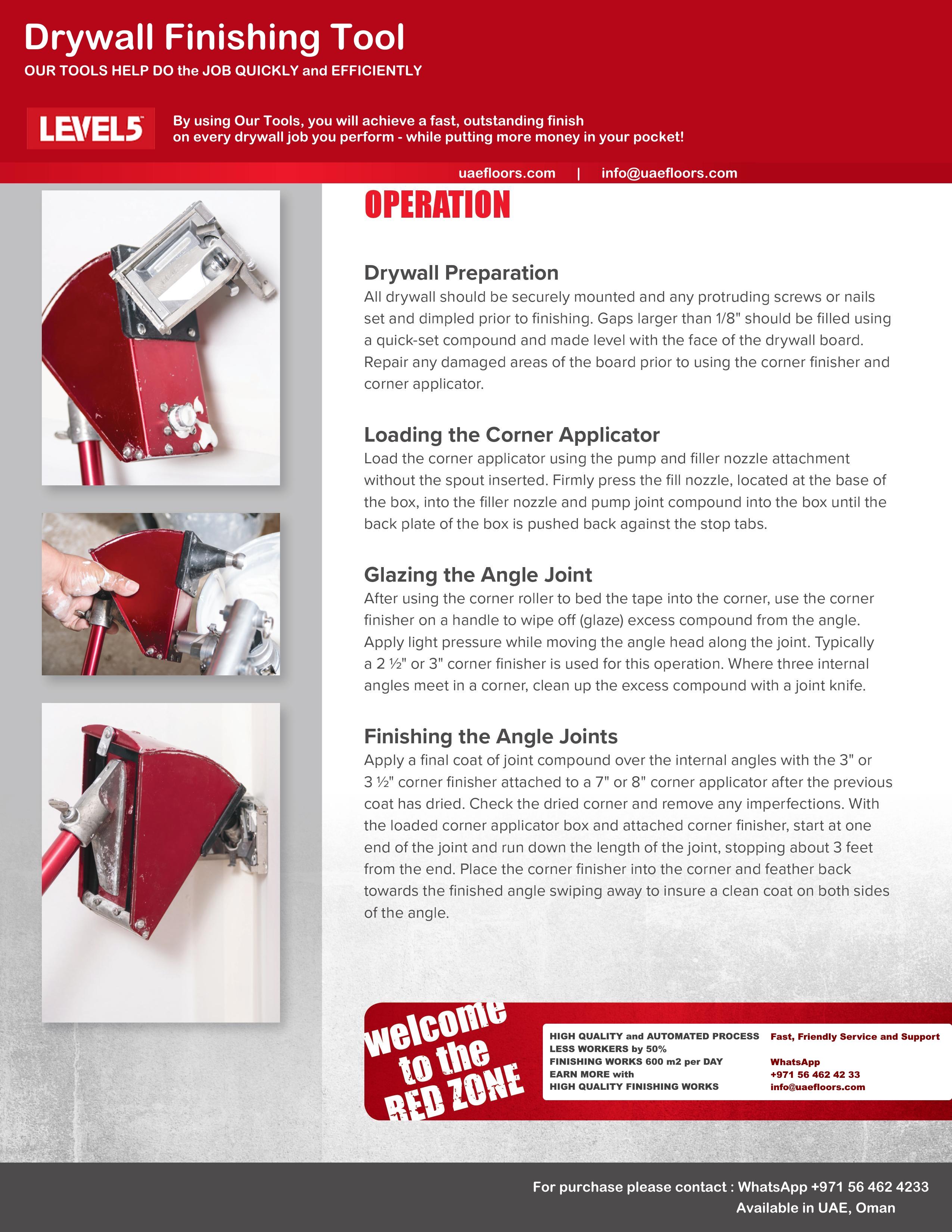 Drywall Tools LEVEL5 | SDtools equipment | Dubai
