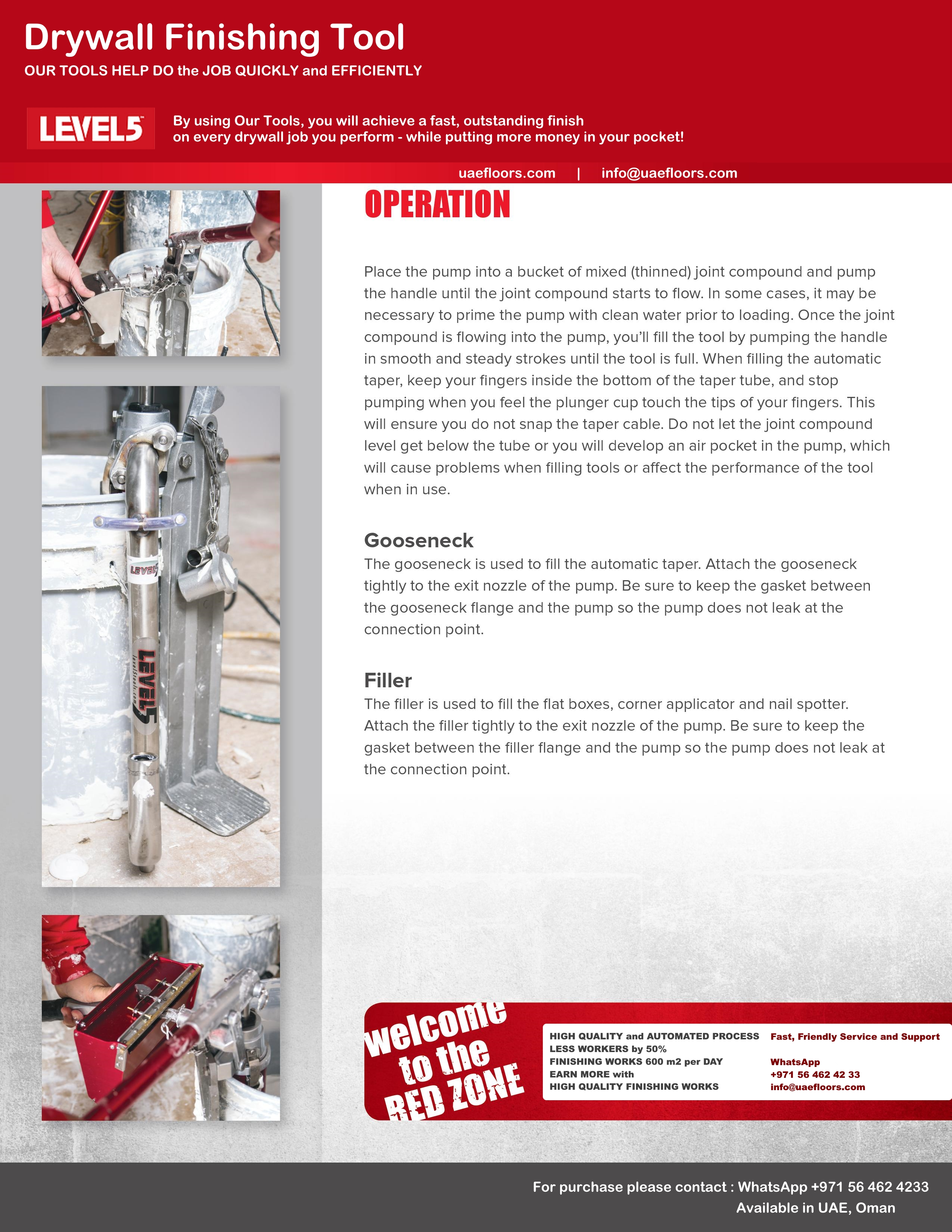 Drywall Tools LEVEL5 | SDtools equipment | Dubai