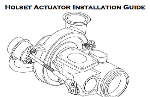 Holset Air Vacuum Actuator Installation Instructions Guide