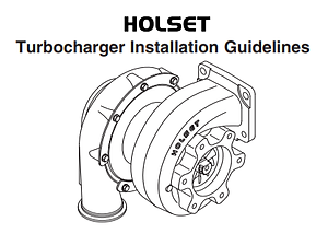 Holset Turbocharger Installation Guide, Holset turbo installation instructions