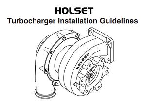 Holset Turbocharger Installation Guide, Holset turbo installation instructions