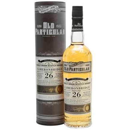Old Particular Cameronbridge 26Yrs Single Cask Highland Grain Scotch Whisky