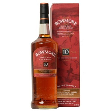 "Bowmore 10Yrs ""Devil's Cask Inspired"" Single Malt Islay Scotch Whisky 1Litre"