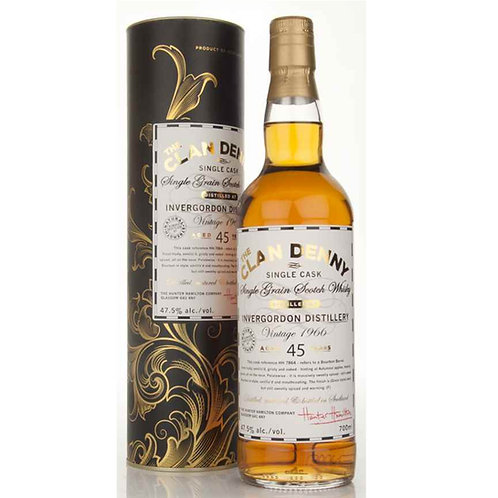 Clan Denny Invergordon 45Yrs Single Cask Highland Single Grain Scotch Whisky