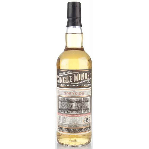 Single Minded 15 Years undeclared Single Malt from a top Speyside Distillery