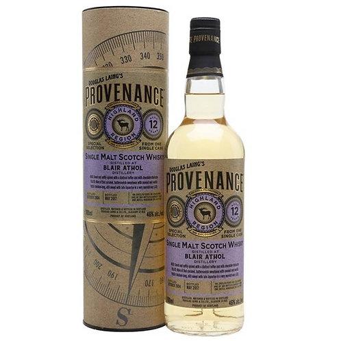 Provenance - Blair Athol 12 Years Single Cask Highland Scotch Malt Whisky
