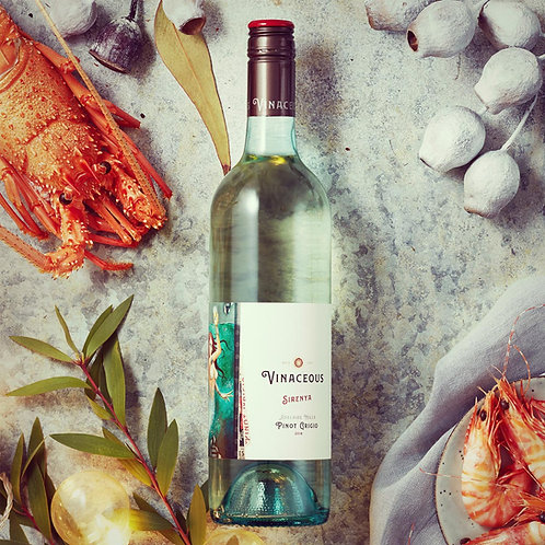 Vinaceous Sirenya Pinot Grigio 2018 White Wine - Western Australia, Australia