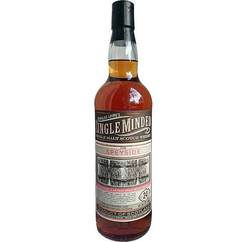 Single Minded 24 Years undeclared Single Malt from a top Speyside Distillery