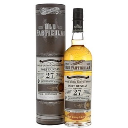 Old Particular Port Dundas 27 Yrs Single Cask Lowland Grain Scotch Whisky