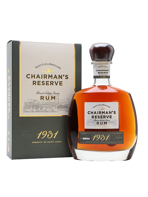 Chairman's Reserve 1931 Rum St. Lucia