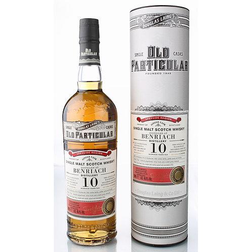 Old Particular Benriach 10Yrs Single Cask Speyside Malt Scotch Whi