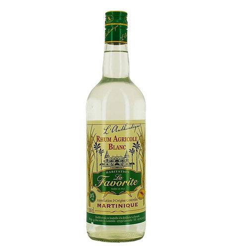 LA FAVORITE Authentique Blanc Rum 1L Martinique, France