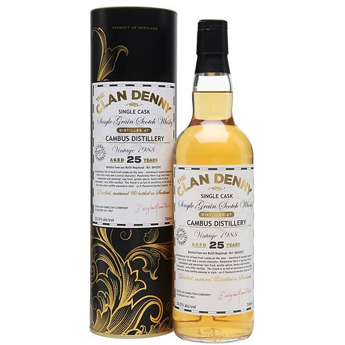 Clan Denny Cambus 25Yrs Single Cask Lowland Single Grain Scotch Whisky