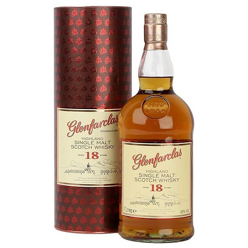 Glenfarclas 18 Years Single Malt Speyside Scotch Whisky 1L