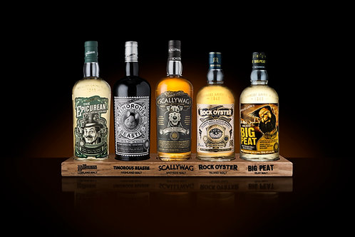 Remarkable Malts Collection with Wooden Plinth