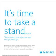 Barclays Take A Stand