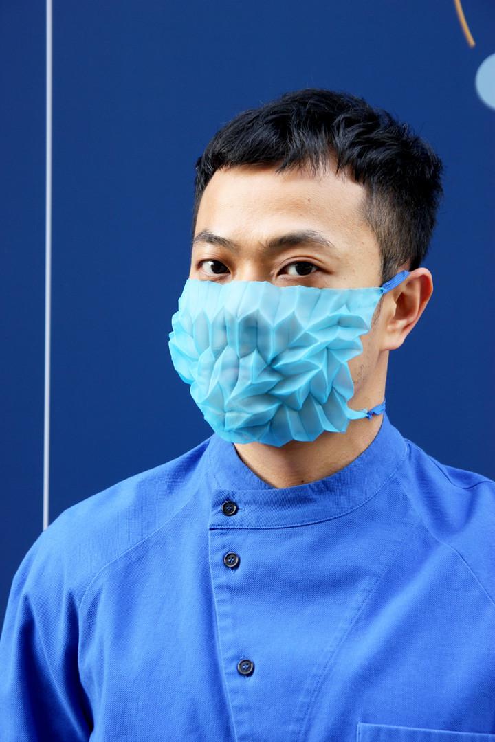 Mask Pleats-Blue