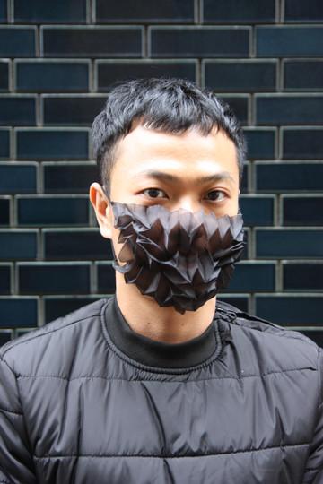 Mask Pleats-Black