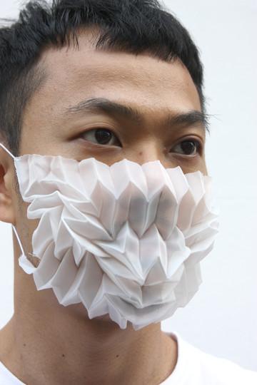 Mask Pleats-White