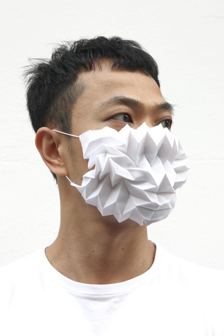 Mask Pleats-White Opaque
