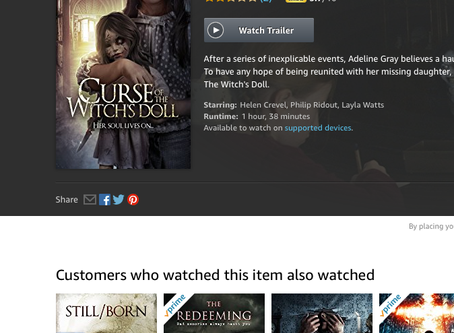 Curse Of The Witch's Doll arrives on Amazon Prime and ITunes!