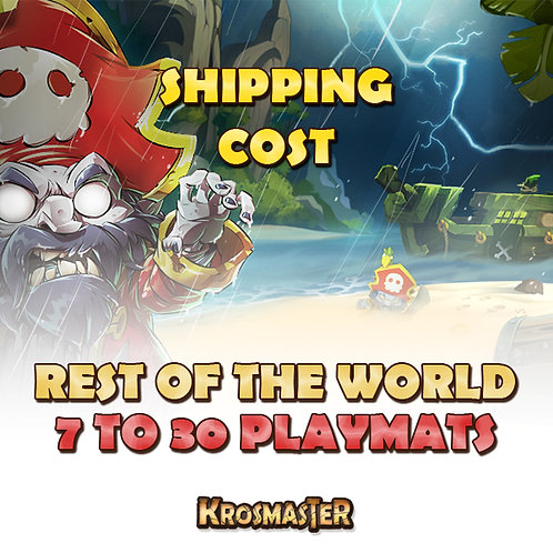 WORLD - 7 to 30 playmats Shipping Cost