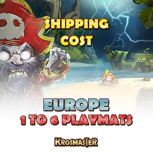 EUROPE - 1 to 6 playmats Shipping Cost