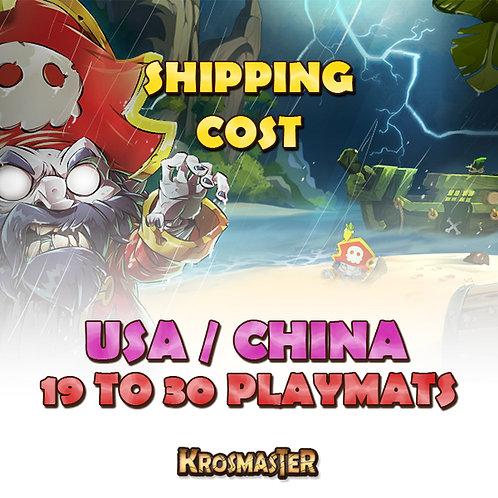 USA / CHINA - 19 to 30 playmats Shipping Cost