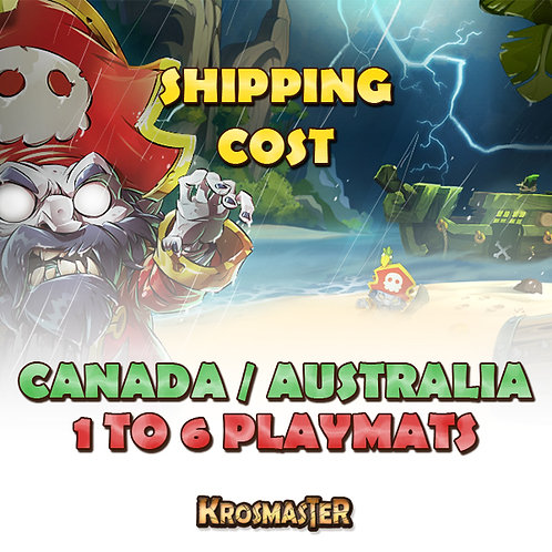 CANADA / AUSTRALIA - 1 to 6 playmats Shipping Cost