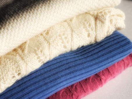 セーターやニットのクリーニング