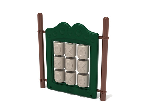 Freestanding Tic-Tac-Toe Panel with Posts