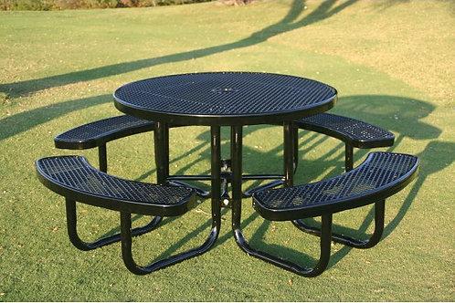 Round Portable Picnic Table w/Diamond Pattern