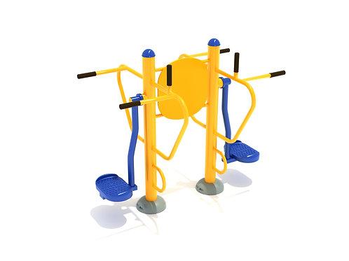 Double Station Pendulum Swing with Leg Lift