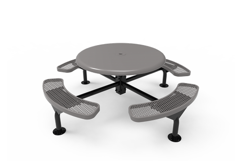 Solid Top Round Nexus Pedestal Table w/Diamond Pattern